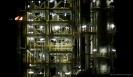 Marsden Point Oil Refinery at night