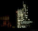 Marsden Point Oil Refinery at night