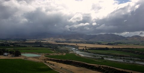 Storm coming down the Awatere Valley from near Seddon