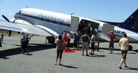 DC3 at Alexandra airport