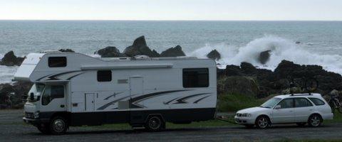 Wild camping north of Kaikoura