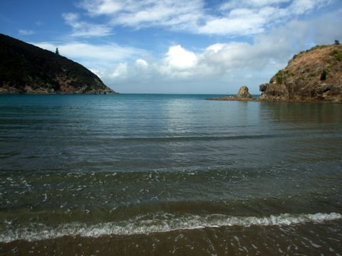 The lovely White's Bay also the day before