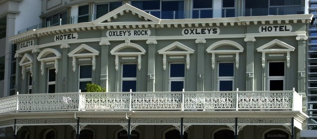 Detail of hotel on Picton waterfront