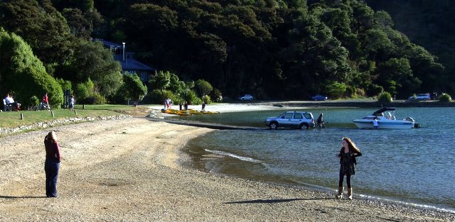 A bay we visited on Queen Charlotte Sound