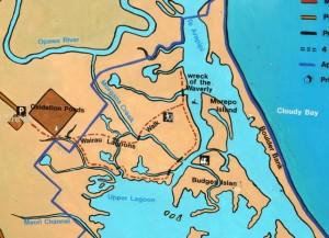 Map of Wairau Estuary walks