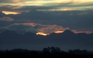 Sunset beyond the Richmond Range