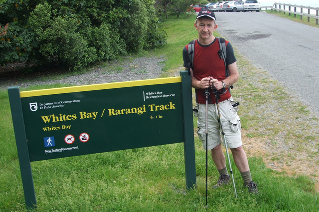 Ross en route to Whites Bay