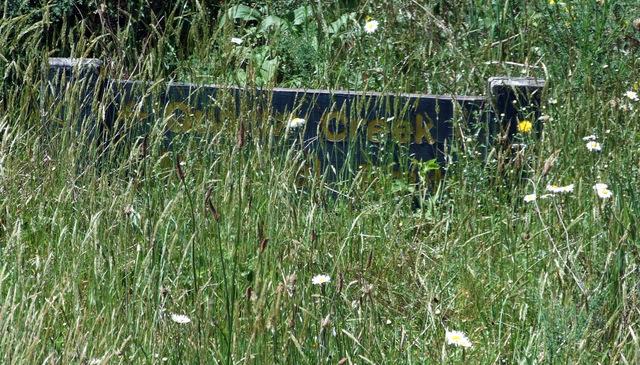 Quartz Creek sign