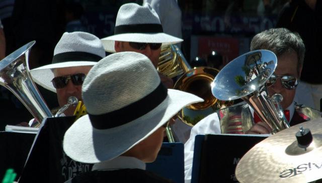 Brass band at Mistletoe Market in Blenheim