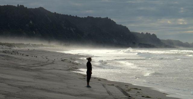 Wyn on Beach at Matata