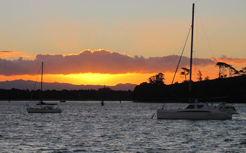 Sunset Tauranga Harbour