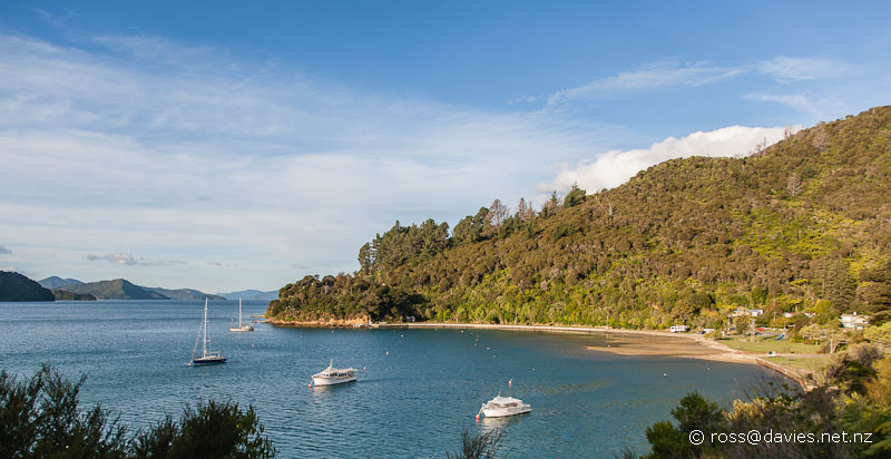 Momerangi Bay on Queen Charlotte Sound