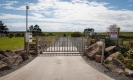 Gate on road to Tapuaetahi Beach