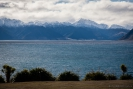 Lake Hawea and mountains - middle of the day