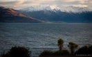 Lake Hawea and mountains - morning