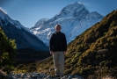 Ross posing in front of Mt Cook