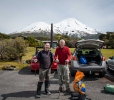 Rob and Ross and Mt Taranaki