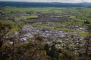 Te Aroha town from Whakapipi Lookout on Mt Te Aroha