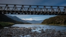 Mt Hooker and bridge over Haast River